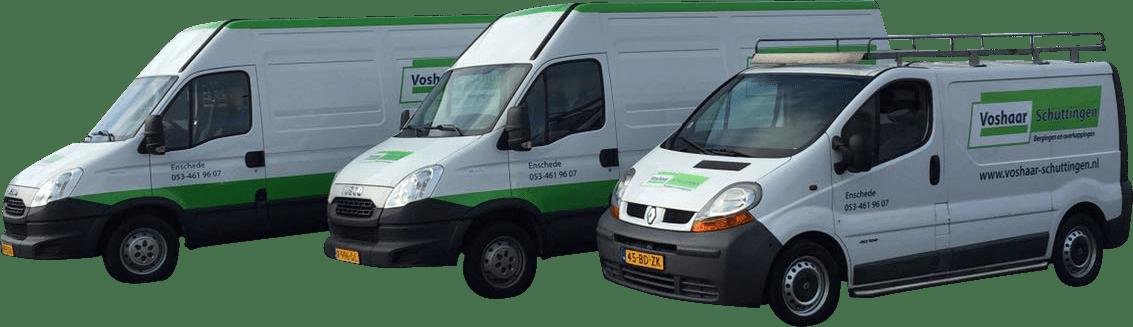 Voshaar Schuttingen: Ons eigen service- en montageteam staat 6 dagen in de week voor u klaar!